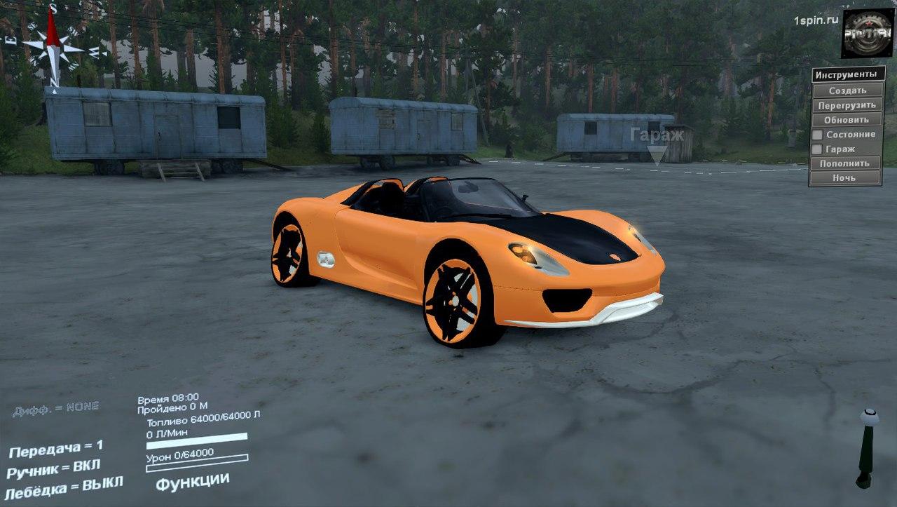 Porsche Carrera для SpinTires 03.03.16 для Spintires - Скриншот 1