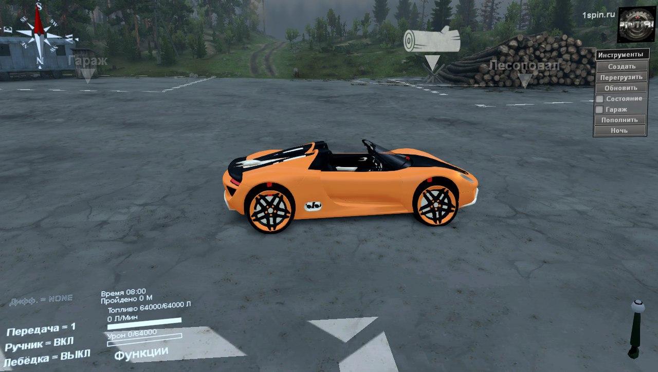 Porsche Carrera для SpinTires 03.03.16 для Spintires - Скриншот 2