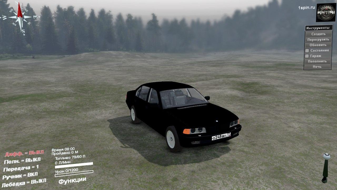 BMW 750LI E38 для 03.03.16 для Spintires - Скриншот 1