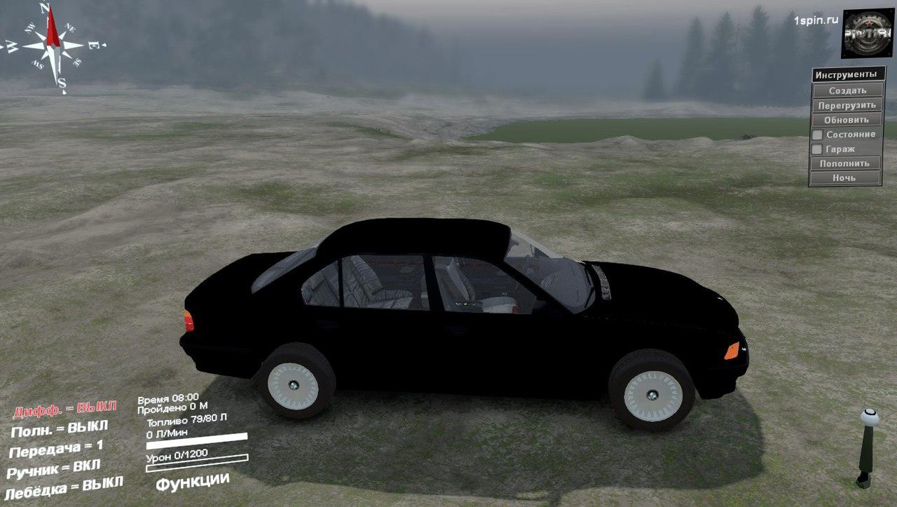 BMW 750LI E38 для 03.03.16 для Spintires - Скриншот 2