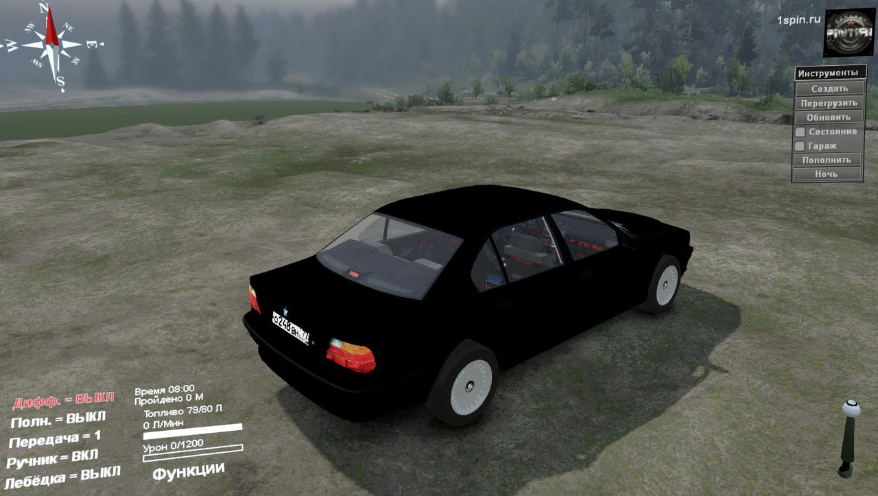 BMW 750LI E38 для 03.03.16 для Spintires - Скриншот 3