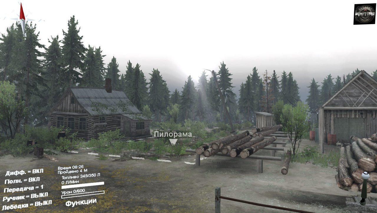 Карта «На краю земли» для 03.03.16 для Spintires - Скриншот 1