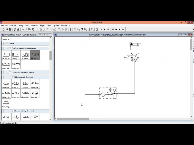 Моделирование пневмопривода. Уроки FluidSIM. Урок 4.Основы составления схем.