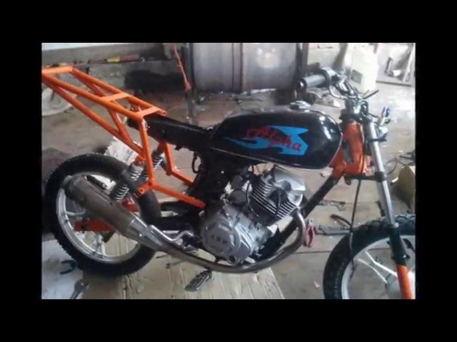 лучшая переделка из мопеда альфа В гараже мотоциклиста