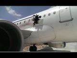 Видео из самолёта, летевшего с дырой в салоне/Videos from the plane, flying with hole in cabin