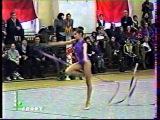 Алина Кабаева - лента // Чемпионат России 1998