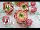Цветы из фоамирана - Ранункулюсы /Flowers foamirana - Ranunkulyusy