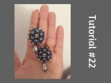 TUTORIAL PERLINE 22 - Orecchini Ufo, perle da 8mm e bicono. (Beading tutorial)