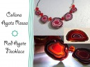 Polymer clay Tutorial Collana Agata Rossa Red Agate Necklace