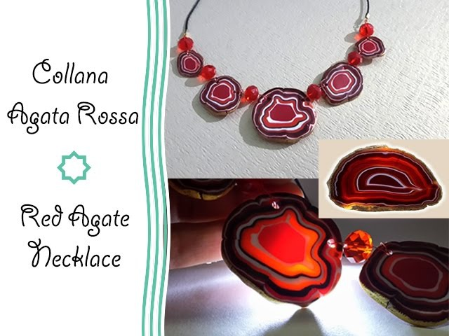 Polymer clay Tutorial Collana Agata Rossa - Red Agate Necklace