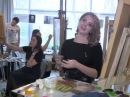 Мастер класс Пишем картину Ван Гога Ваза с гладиолусами