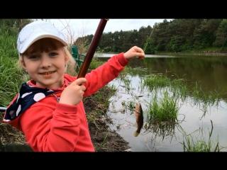 Ловлю карасиков на удочку / Fishing. I catch the bait crucian