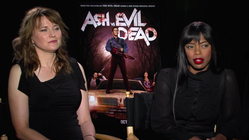 Lucy Lawless and Jill Marie Jones Interview Ash vs Evil Dead HD 2015 Horror смотреть онлайн без регистрации