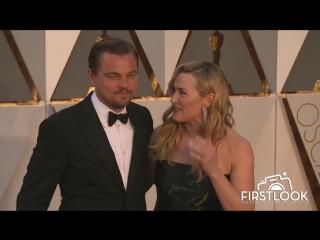 Кейт Уинслет с Леонардо Ди Каприо на красной дорожке Оскар 2016