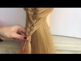 Прическа с красивым плетением