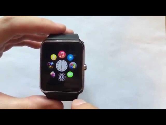 Умные смарт часы с сим картой IOS и Android Smart Watch GT08 часы телефон копия apple iwatch