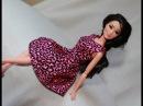 Одежда для кукол Барби. Как сшить платье. \ Clothes for Barbie doll. How to make summer dress.