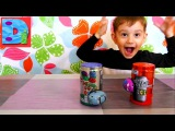 Жуки тачки магнитные в металлических банках распаковка игрушек Magnetic cars brothers crawling toy
