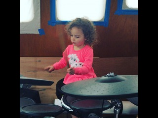 "Aj mclean on Instagram: ""And so it begins!!! I love this little entertainer. She's a lover of all things music. No idea where she gets it from!! #daddystwin…"""