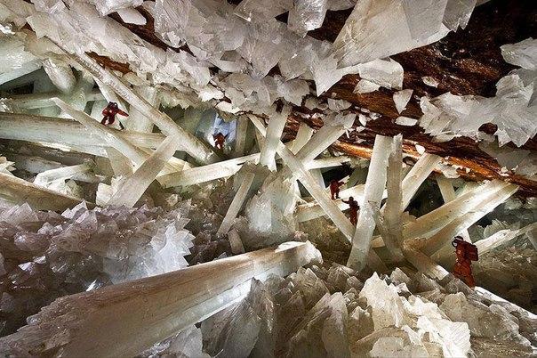 Самые крупные кристаллы в Мексике.