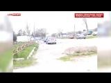 Появилось первое видео с места взрывов у отдела МВД на Ставрополье
