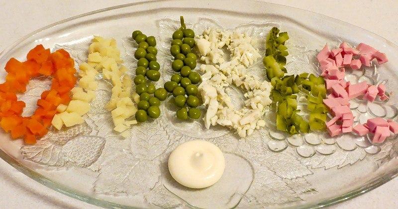 Как украсить оливье рецепт очень вкусный