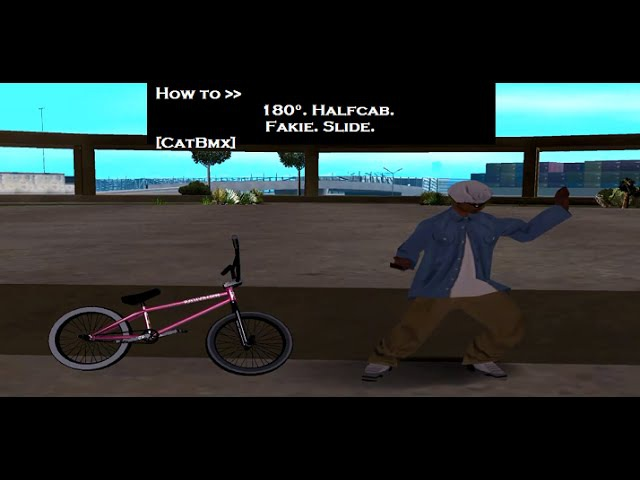 Обучкалка (StuffBmx) How to 180, fakie, halfcab, slide by CatBmx