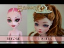 WORK IN PROGRESS ENCHANTED - MONSTER HIGH FACEUP HOW TO REPAINT A DOLL
