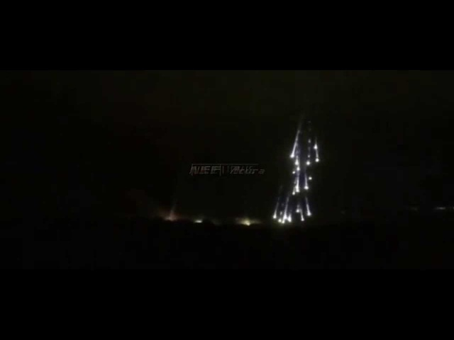 Semyonovka/Slovyansk, Ukraine, 12.6.2014: Alleged use of white phosphorus bombs by Ukrainian Army