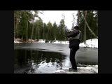 Ловля прудовой форели зимой - рыбалка спиннингом на форелевые приманки ультролайт (trout fishing)