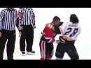 Jon Nasty Mirasty vs Joel The Animal Theriault Sorel Vs Thetford combat de lnah Hockey Fight