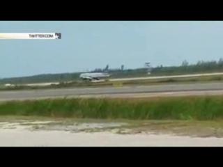 Пассажирский самолет сел на брюхо в аэропорту Багамских островов