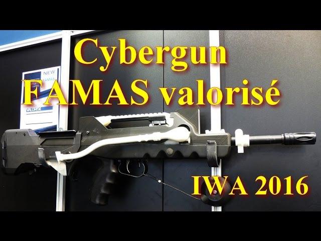 Airsoft IWA 2016 Prototype FAMAS Valorisé Cybergun ENG sub