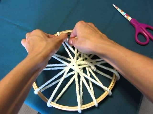 DIY: Circle Loom Weaving on an Embroidery Hoop
