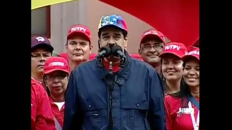 Pdte. Maduro llama a la clase obrera a declararse en rebelión popular ante amenazas de la oligarquía