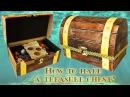 Как сделать сундук с сокровищами из обувной коробки How to make a treasure chest from a shoebox 財富