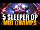 TOP 5 SLEEPER OP MID LANERS - League of Legends