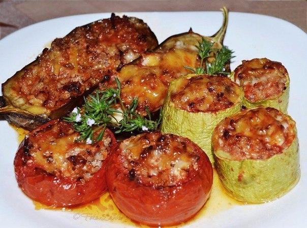 Рецепт перцы фаршированные баклажанами