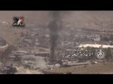 Атака сирийских войск на позиции боевиков. Сирия.