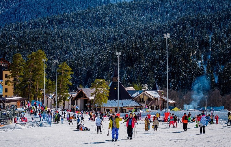 В период новогодних праздников курорт «Архыз» посетили около 29 тысяч человек