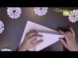 Как делать простые СНЕЖИНКИ из бумаги  Новогодние ОРИГАМИ [HD, 720p]