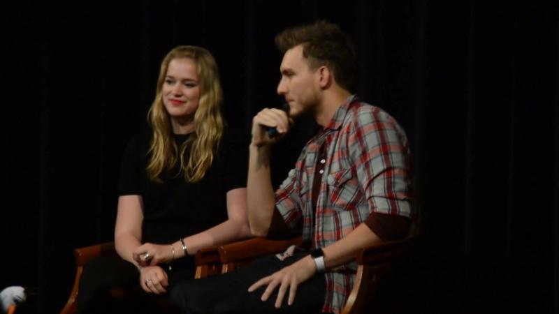 Elizabeth Lail Scott Michael Foster talk about their first scene with Lana Regina