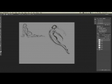 How To Draw Human Anatomy by Aaron Blaise. Finishing the Gesture