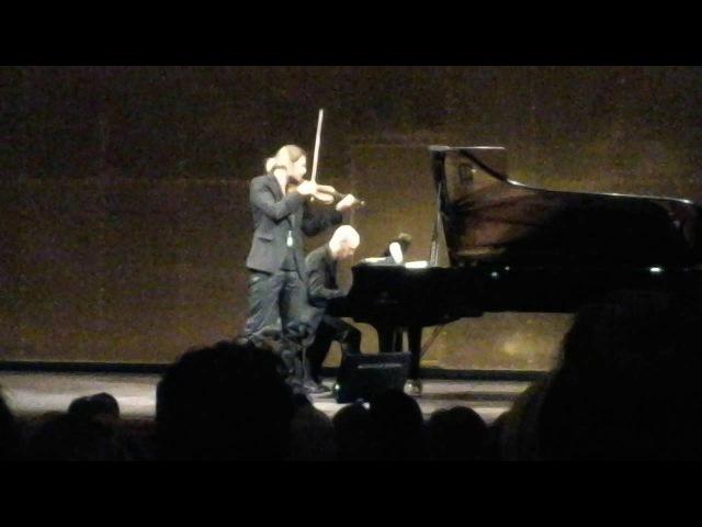 Dаvid Garrett Julien Quentin,Recital, Paris 28.05.2016.S.Frank,Sonata for violon, 1-2 parts