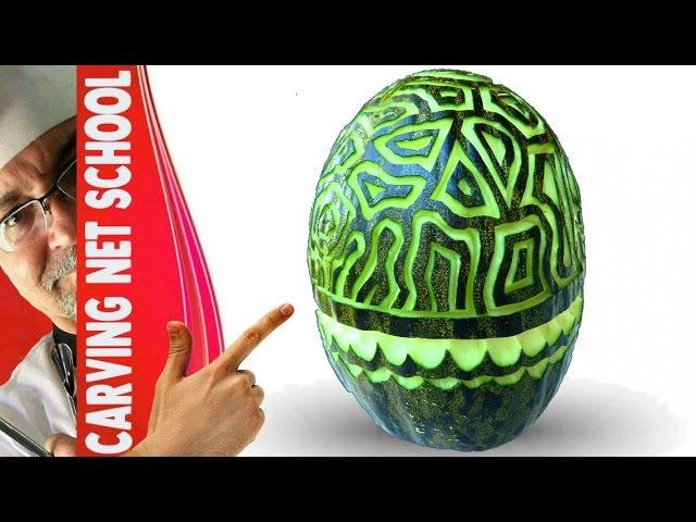 ██ Lesson 41, Carving, fruit veg carving, escultura em frutas, tallado en frutas