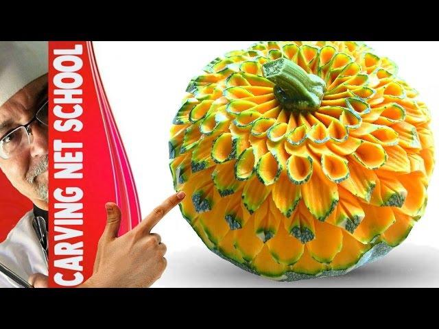 ██ Lesson 42, Carving, fruit veg carving, escultura em frutas, tallado en frutas
