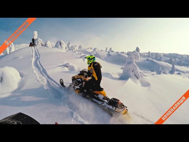 Teaser snowmobiling in Kandalaksha