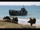 Amphibious landing of the Royal Netherlands Navy from HNLMS Johan de Witt