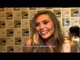 Allocine Comic-Con interview with Aaron Taylor-Johnson and Elizabeth Olsen