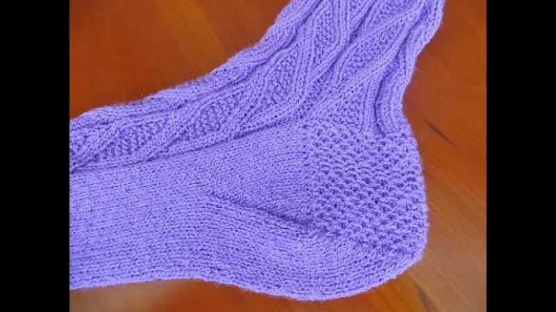Как вязать пятку носка Вариант 2 «Косынка»